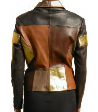 Woman's lamb leather jacket model Dorane