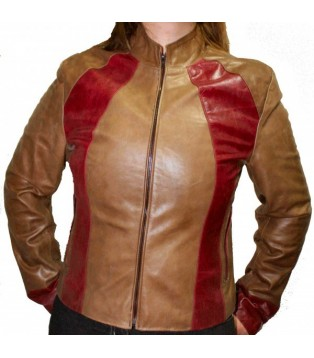 Woman's cow leather jacket model Sole