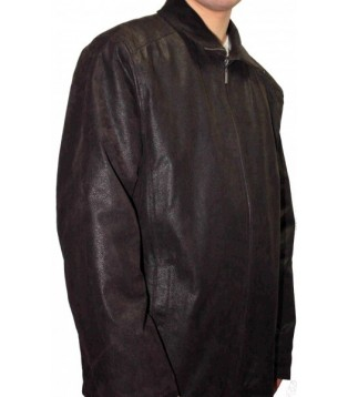 Man leather coat model Rex