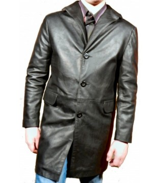 leather man coat model Brody