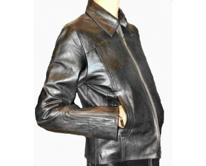Woman's leather jacket model Serena