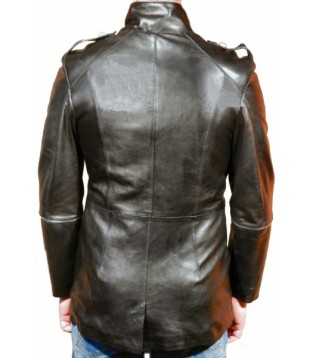 Man leather coat model Empire