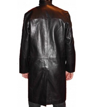 Man leather coat model Cross