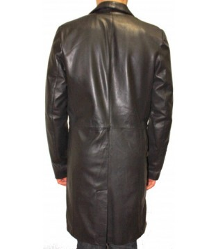 Man leather coat model Aymeric