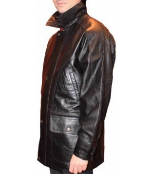 Man leather coat model Rori
