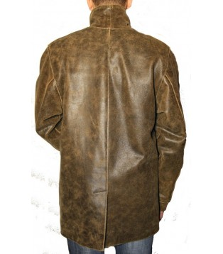 Man leather coat model Aviator