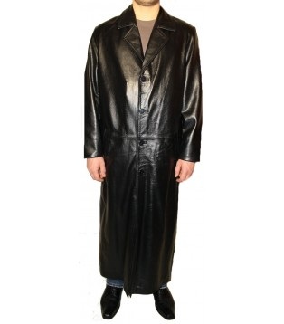 Man leather coat model Richard
