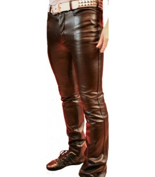 Pantalon cuir stretch homme Eliot