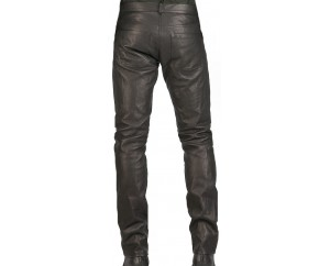 Man pant leather black model Miki