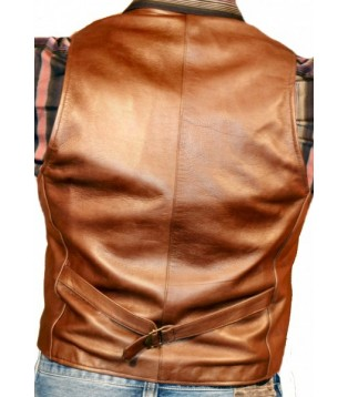 Man leather vest model Sam