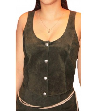Woman's leather bustier model Liv
