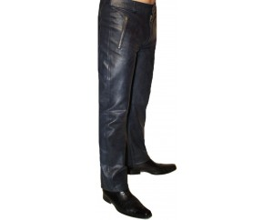 Man leather pant model Steeve