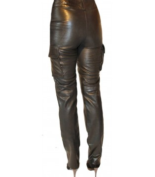 Woman leather pant model Dona