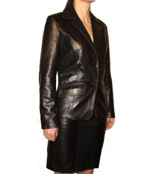 Woman's leather jacket model Natacha