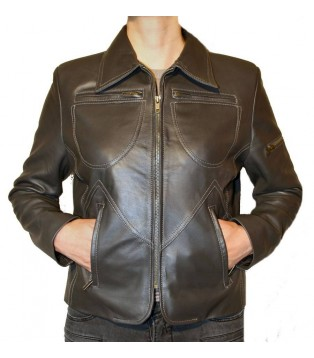 Woman's leather jacket model Pricila