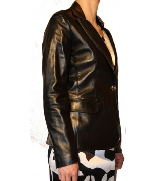 Woman's leather jacket model Kristen