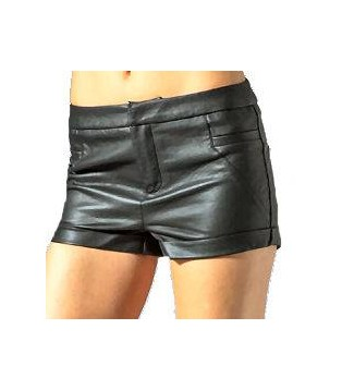 Woman leather short model Binga