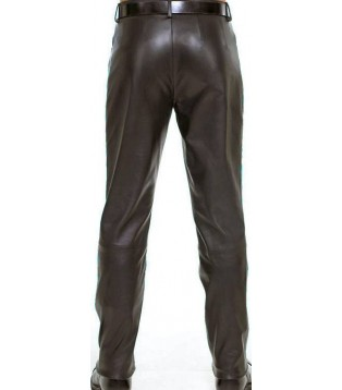 Man leather pant lambs model Tary