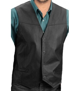 Man leather vest model Bill