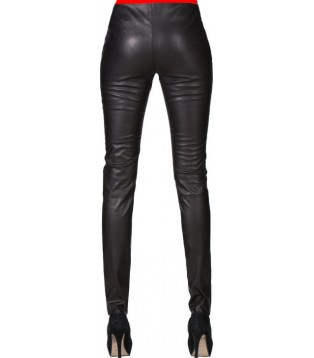 Woman leather pant model Miranda