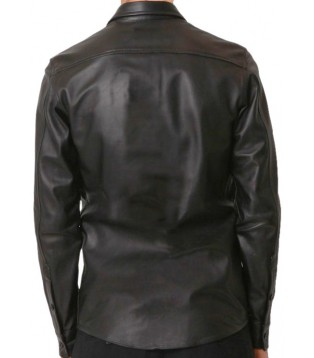 Man leather shirt model Fredilo