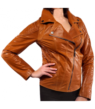 Woman\'s leather jacket model Chame