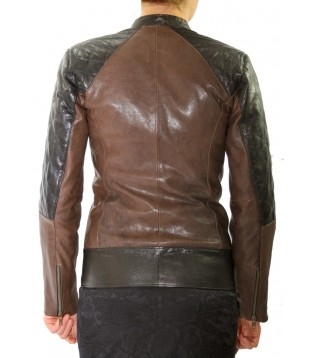 Woman's leather jacket model Derma-1