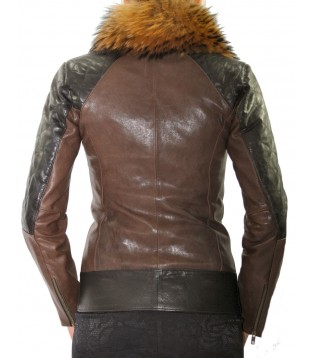 Woman's leather jacket model Derma