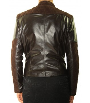 Woman's leather jacket model Iris