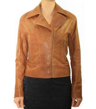Woman's leather jacket model Kelly-1