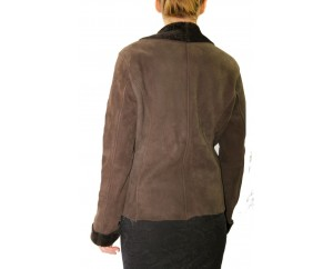 Women's Shearling Sheepskin Jacket with Toscana Trim model Byanca