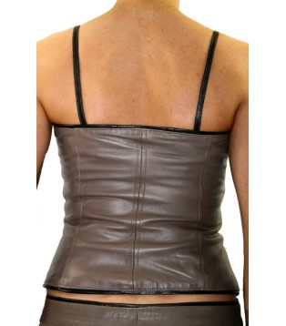 Woman's leather bustier model Bany