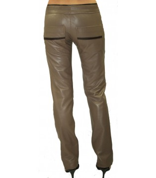 Woman leather pant model Nina