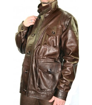 Leather man coat model Azel