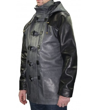 Man leather Duffle coat model Rinald