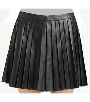 Lamb leather skirt model Vera