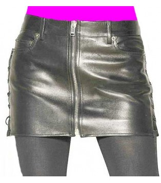 Lamb leather skirt model Gilza