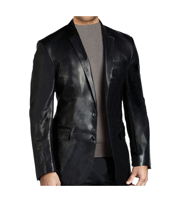 man leather blazer model barnet lattitude cuir