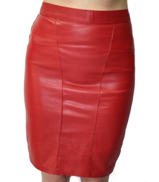 Woman leather skirt model Pricia
