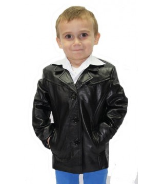 Children coat leather model Nolan