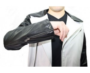 Man leather jacket model Corantin