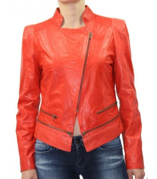 WOMAN LEATHER JACKET IN LAMB MODEL BELIDA