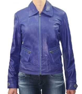 JACKET LEATHER WOMAN NAME MARDGE COLOR PURPLE