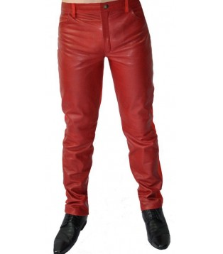 man leather pant model Eric