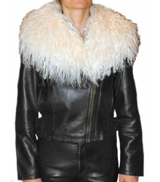 Woman's leather jacket model Andréa