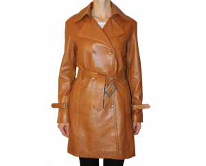 Woman's leather coat model Chloé