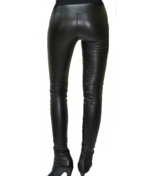 Woman leather pant model Monica