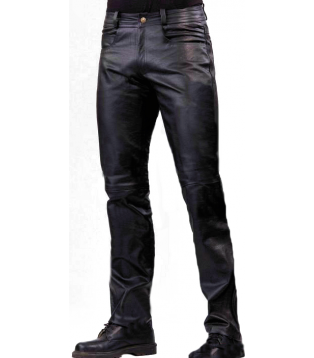 Man leather pant model Aramis