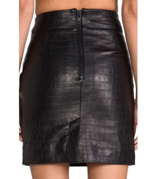 Leather skirt model Favoria