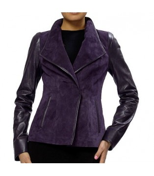 Woman's leather jacket model Poucie